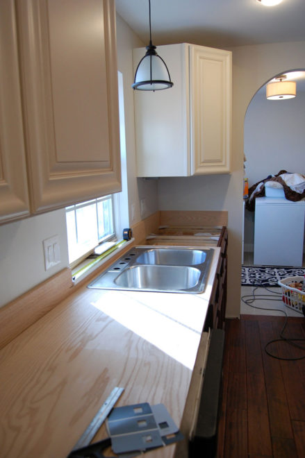 Plywood Countertops Grocery Shrink