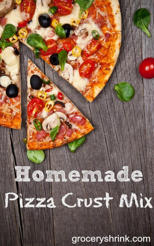 Homemade pizza crust mix