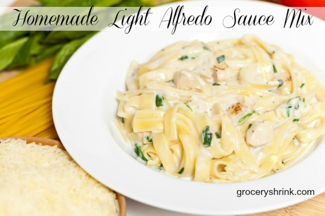 homemade light alfredo sauce mix