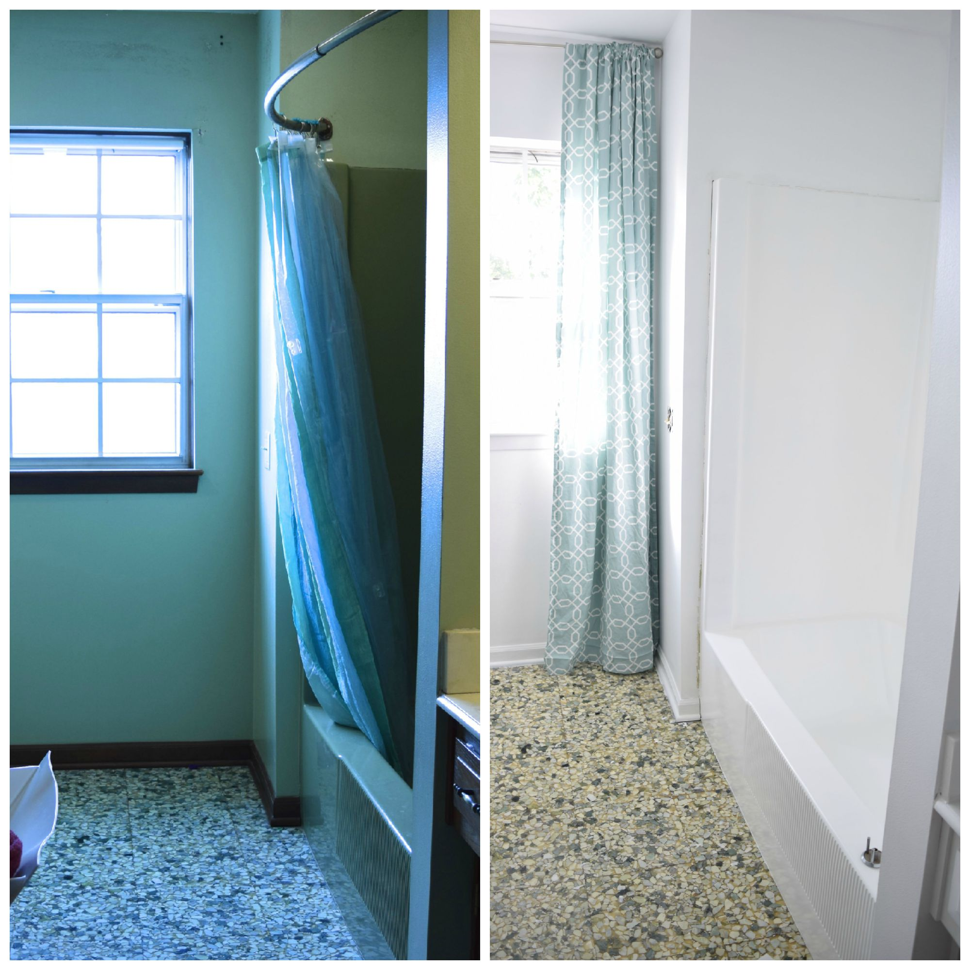 Shower before and after 2