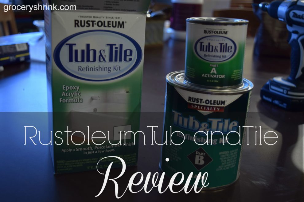 Rustoleum Tub and Tile Transformations Review – Grocery Shrink