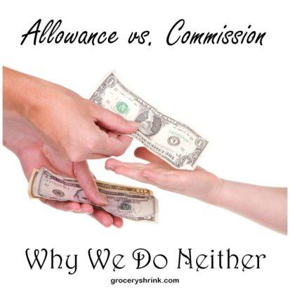 Allowance Vs Commissions