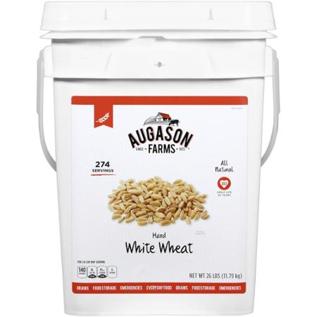 bucket of wheat