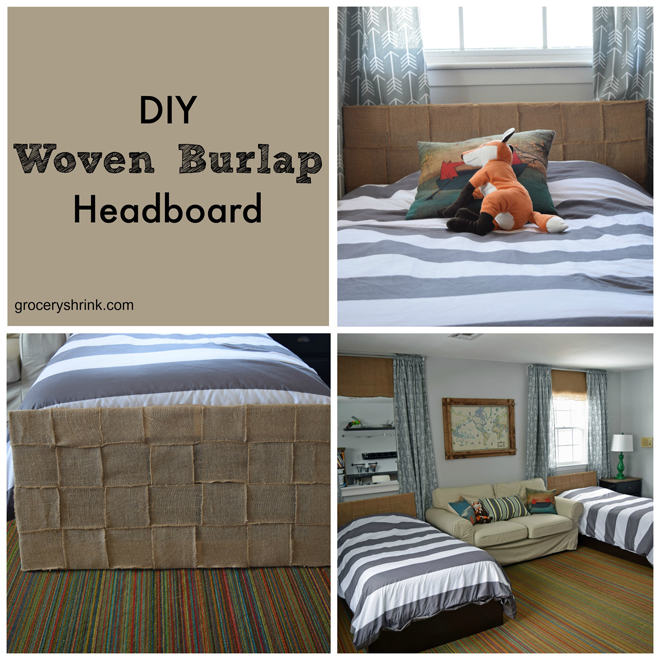 diy woven burlap headboards  grocery shrink, Headboard designs