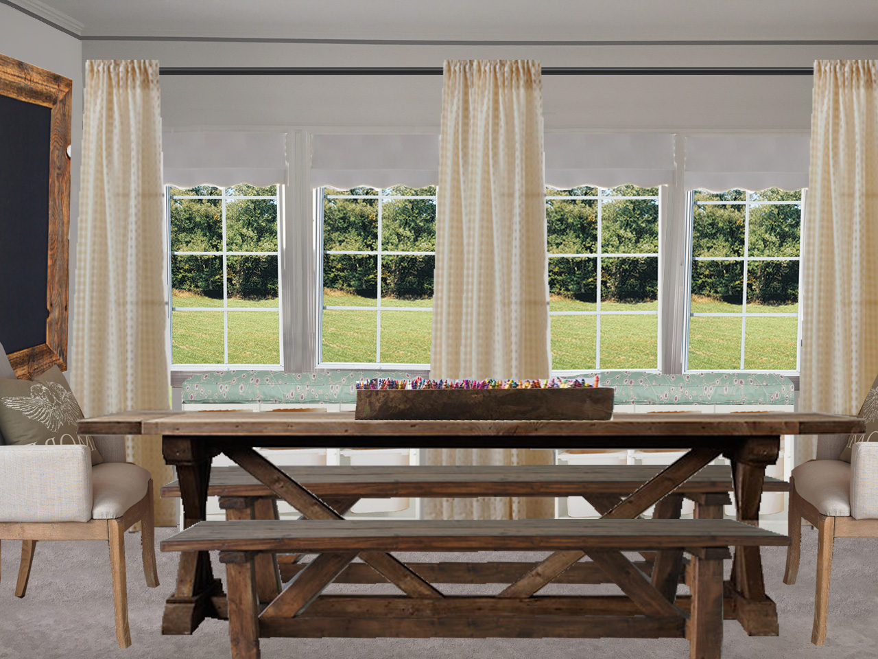 Sunroom window treatments for dining room window treatments tropical download window covering - Sunroom dining room ...