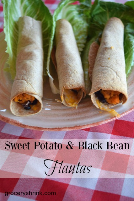 Sweet Potato & Black Bean Flautas