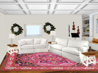 Living Room Rug View pink rug