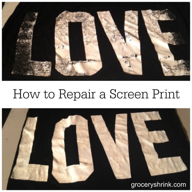 how to repair a screen print