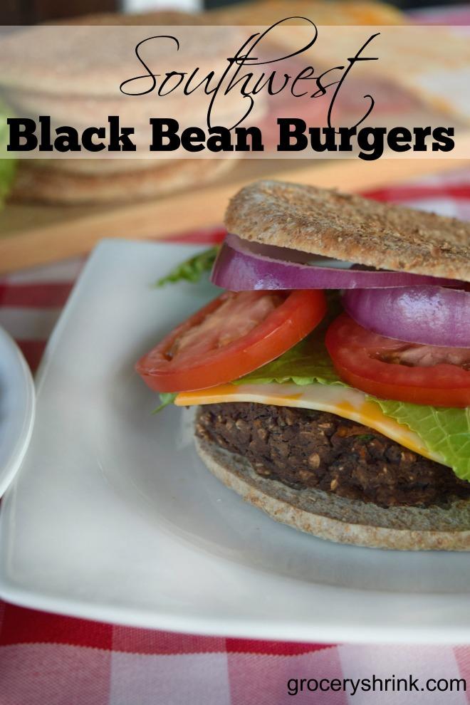 Southwest Black Bean Burgers Grocery Shrink
